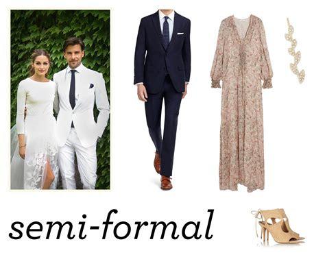 wedding attire semiformal  nouveau romantics