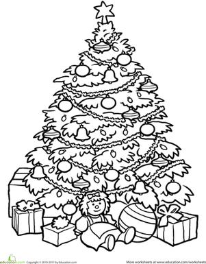 Christmas Tree | Worksheet | Education.com