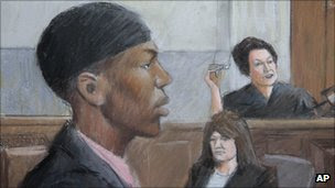 Court sketch of Umar Farouk Abdulmutallab