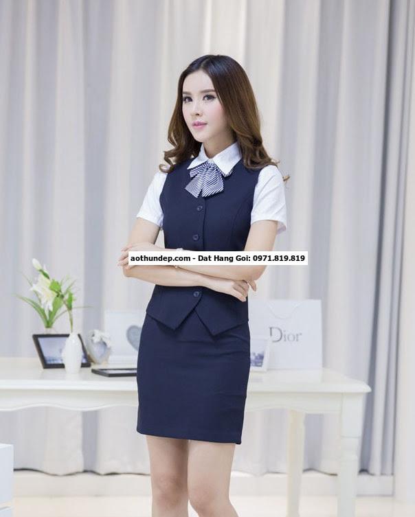 hình ảnh đồng phục công sở nữ