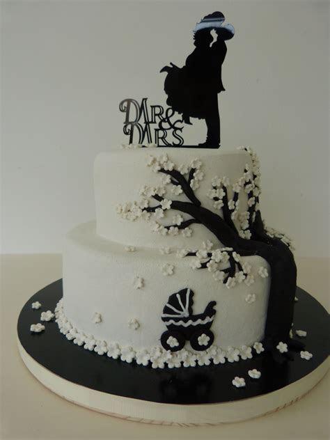 Hochzeitstorte, Wedding cake, black, white, schwarz, weiß