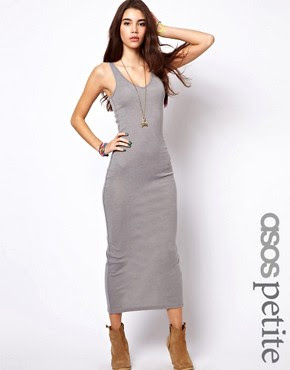 Image 1 of ASOS PETITE Exclusive Maxi Dress with V Neck