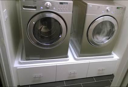 Industriele Keuken Wasmachine En Droger Inbouwen In Kast