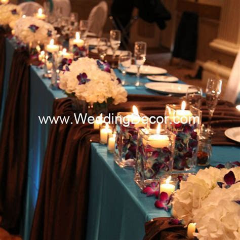 Head Table Decorations   Turquoise & Brown   Flickr