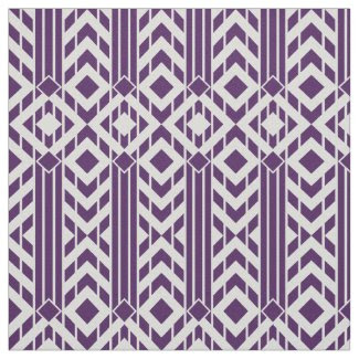 Fancy Purple & Grey Chevron Stripes Fabric