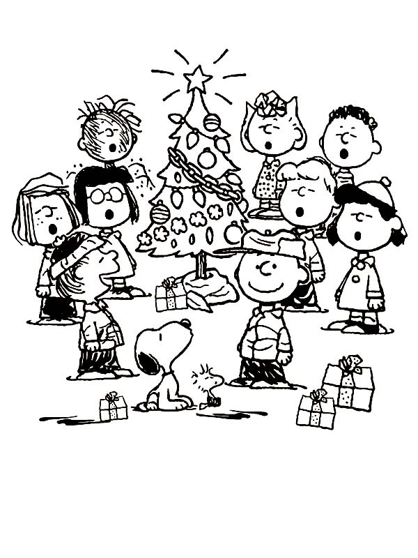 Charlie Brown Christmas Coloring Pages at GetColorings.com ...