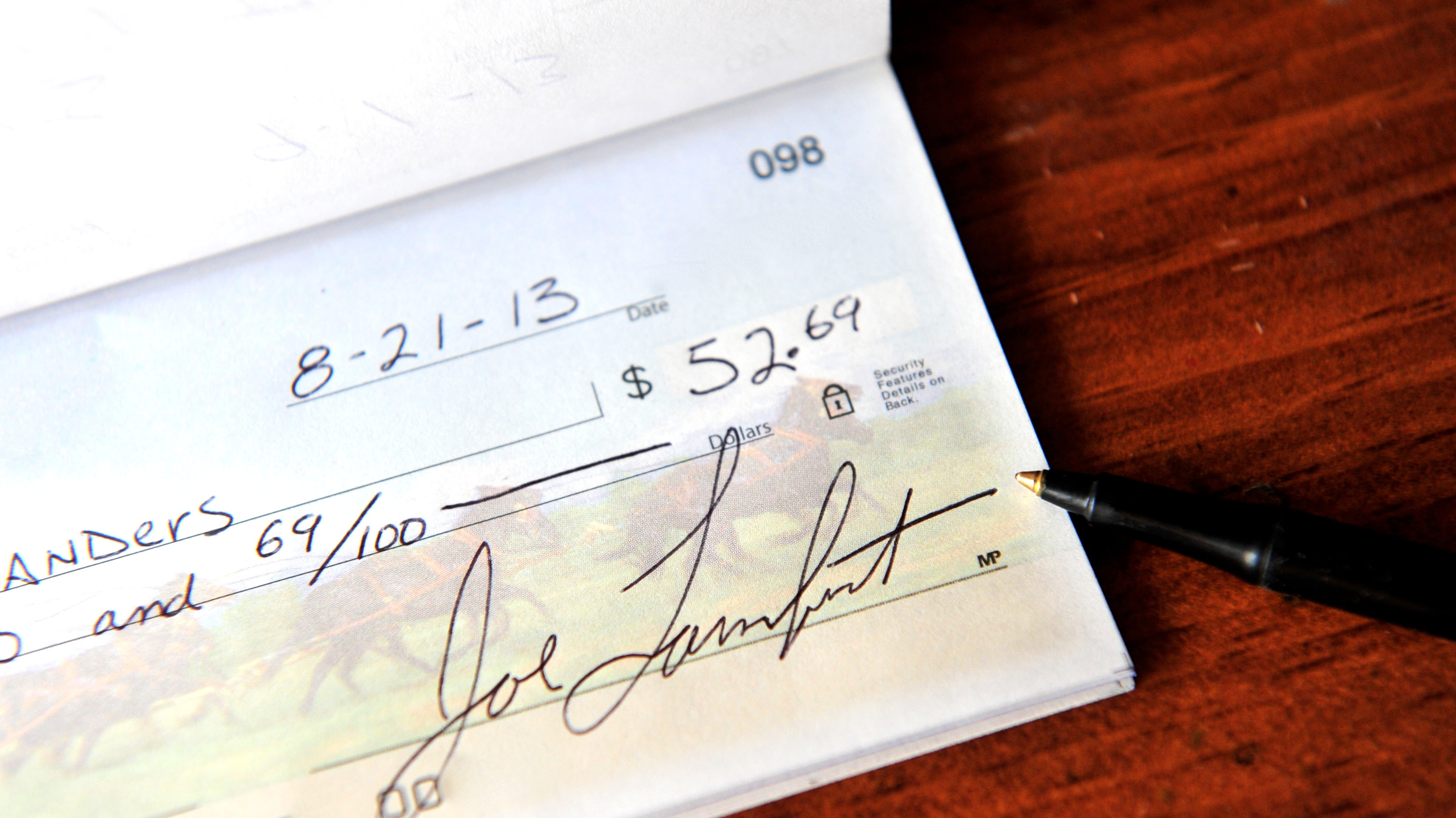 How To Write A Check With Dollars And Cents