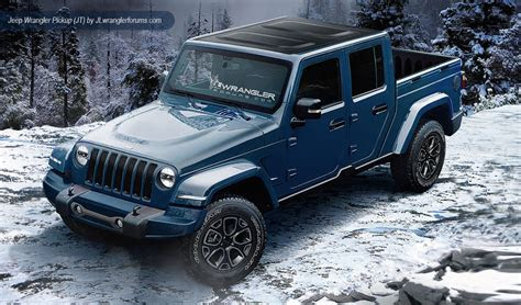 jeep wrangler dual cab ute renderings loaded