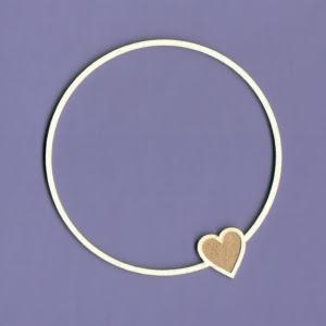 1138 Tekturka  - Ramka Simple Love okrągła - G4