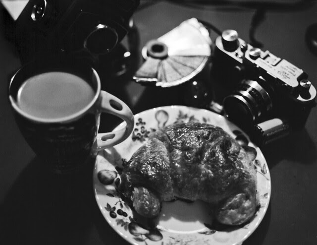 Croissant, Coffee, and Cameras..