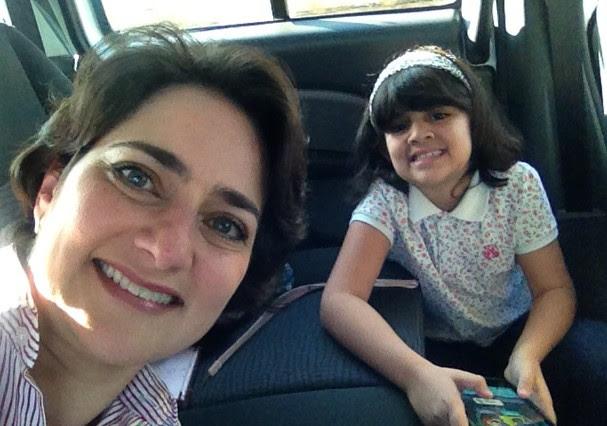 Vivi e sua filha Costanza (Foto: Acervo Pessoal)