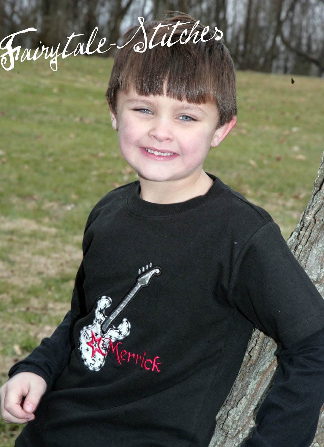 Boys Personalized Boutique Guitar Tshirt great for guitar birthday shirt