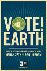 Flickr: Vote Earth! Switch Off Your Lights For Earth Hour by Shepard Fairey.  iPhone Wallpaper.