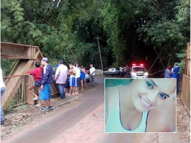 Motorista perdeu controle do carro em uma curva e caiu no Rio Jacaré (Foto: Alex Silva/Arquivo pessoal)