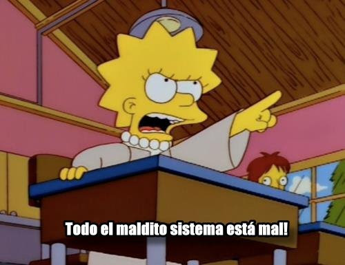 Lisa Simpson Problemas Dibujos Accion Criticas Politicos Sistema
