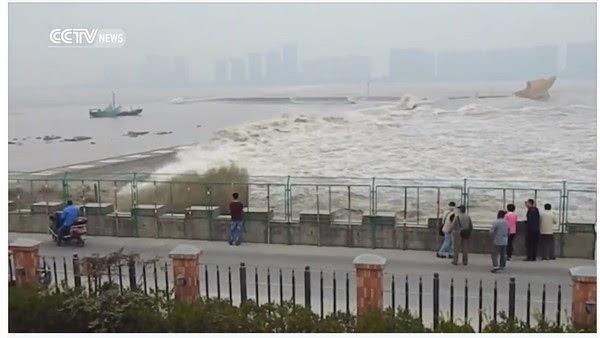 Hình ảnh Video:Ngắm thủy triều lạ, hàng chục du khách bị cuốn trôi số 1