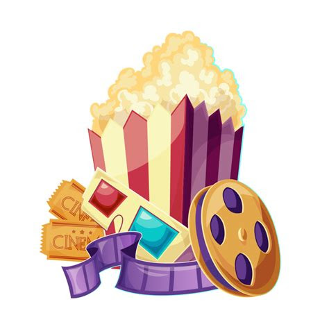 ticket  popcorn clipart png