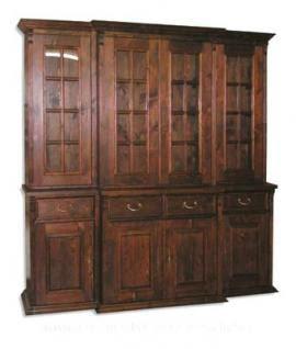 Wohnzimmerschrank Bücherschrank massiv Holz Landhausstil ...