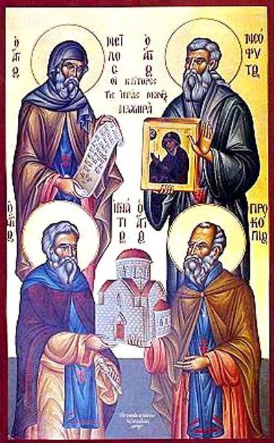 img Saints Neophytos, Ignatius, Procopius and Neilos, founders of the Holy Monastery of Machaira, Cyprus