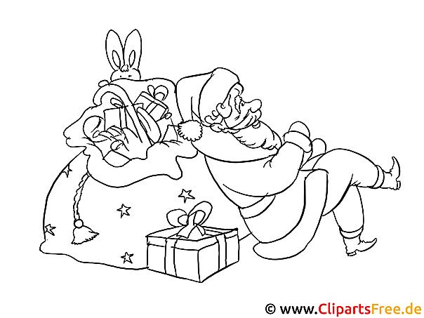 nikolaus ausmalbilder zu weihnachten
