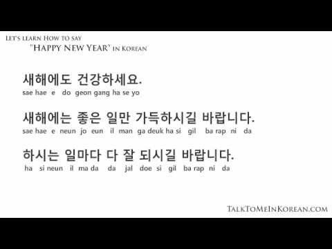 How to wish a Happy New Year in Korean by TalkToMeInKorean.com