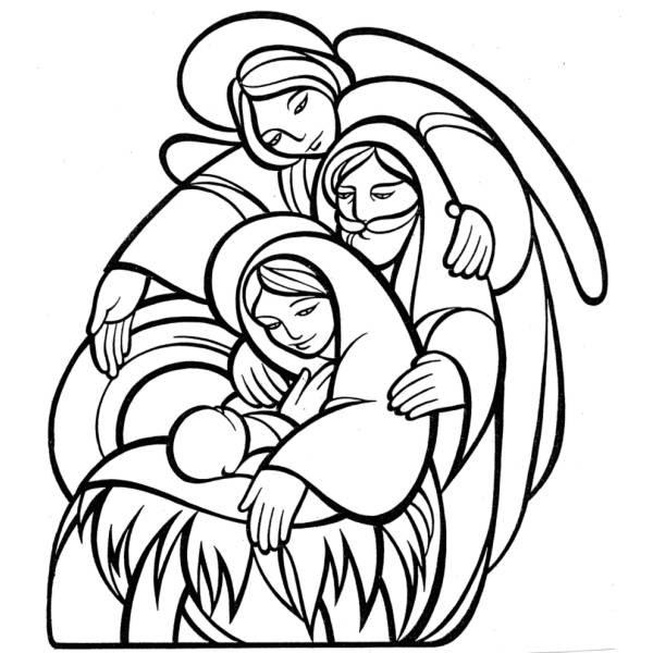 Sacra Famiglia Da Colorare Per Bambini