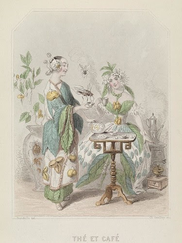 Thé et Café - Les Fleurs Animées - JJ Grandville
