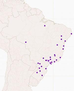 Veja onde estão os 39 municípios que receberão novos cursos de medicina (Foto: Reprodução/CartoDB)