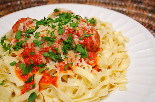 Cheesy Italian Meatballs & Marinara Sauce