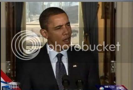 Obama on the TV
