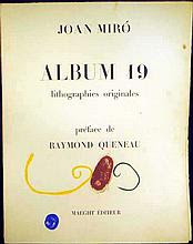 Joan Miro & Raymond Queneau ALBUM 19 PORTFOLIO PREFACE Original Limited Edition 1961 Lithographs Surrealism Modern Art