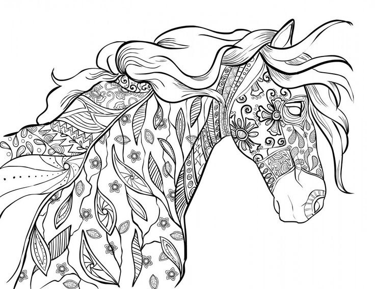 Horse Mandala Coloring Pages at GetColorings.com | Free ...