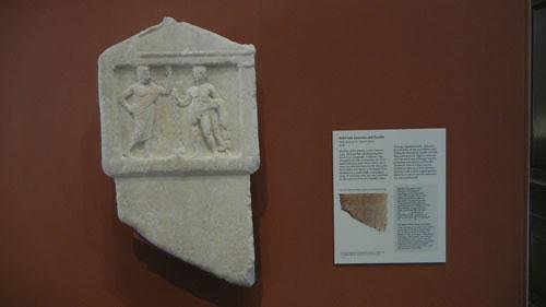 DSCN7491 _ Relief with Antiochos and Herakles, Greek, Getty Villa, July 2013