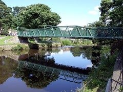 Footbridge over the River Aire