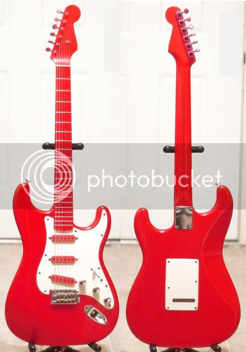 Red DiMarzio Strat