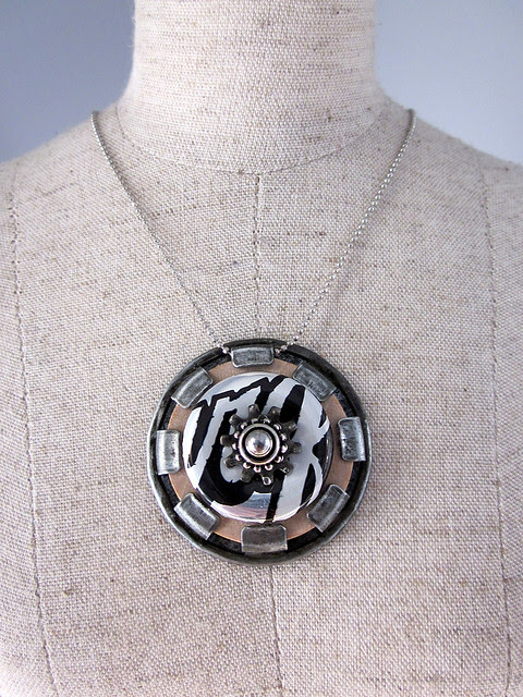 Hardware + Wood Necklace
