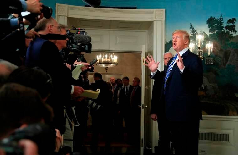 donald trump, white house press dinner, trump news conference, white house journalists, american media, united states, indian express