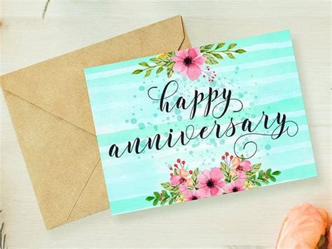 Anniversary card printable,anniversary card for parents