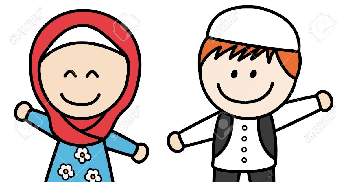 Mirzan Blog S 10 Ide Gambar Anak Laki Dan Perempuan Kartun Muslim