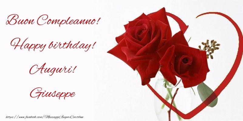 Rose Buon Compleanno Happy Birthday Auguri Giuseppe
