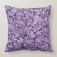 Lavender Doodles Pattern throwpillow
