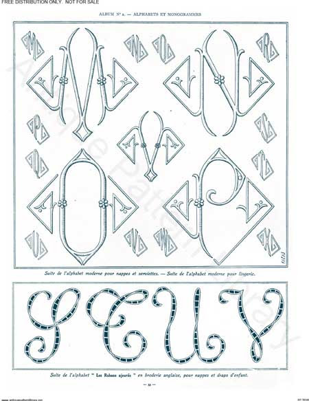 Monograms for Hand Embroidery 2