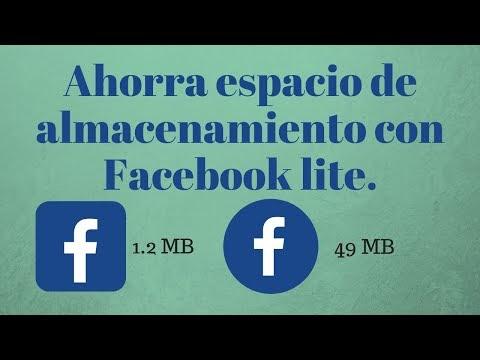Facebook Lite para celulares Android con poco almacenamiento