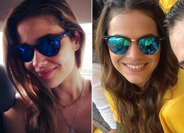 [MODA] Óculos Espelhado Colorido - Ana Beatriz Barros e Bruna Marquezine (Foto: Instagram / Reprodução)