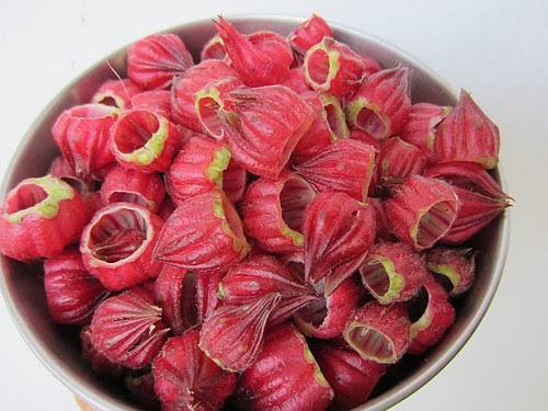 Roselle calyces