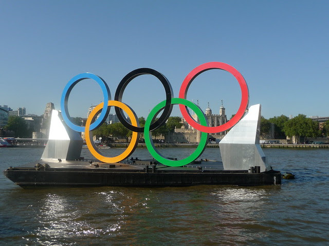 Olympic walk over Tower Bridge