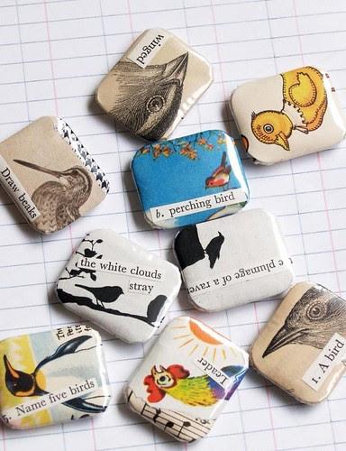 Bird badges - assorted