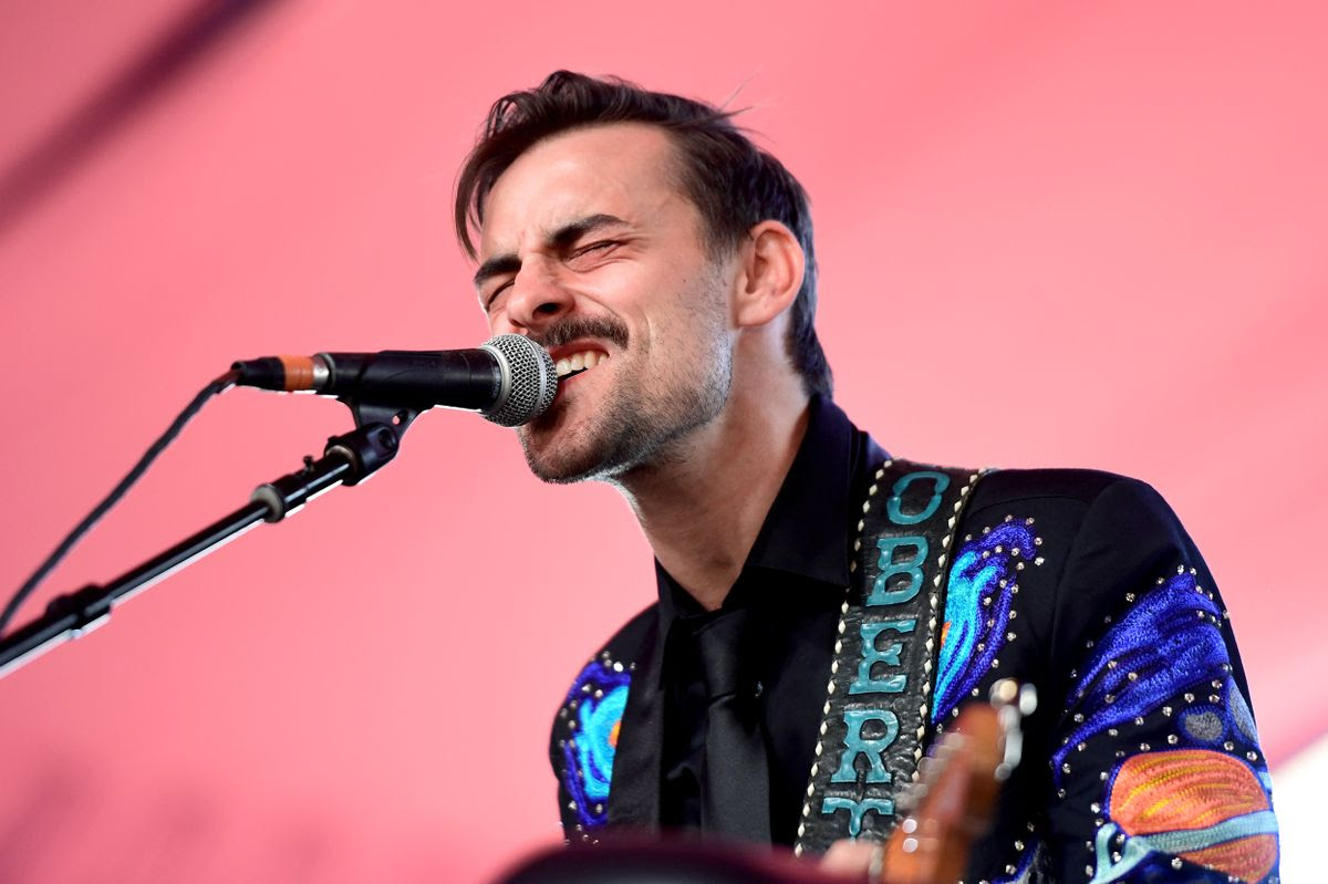 INDIO, CA - APRIL 29:  Musician Robert Ellis performs on the Mustang Stage during day 2 of 2017 Stagecoach California's Country Music Festival at the Empire Polo Club on April 29, 2017 in Indio, California.  (Photo by Matt Winkelmeyer/Getty Images for Stagecoach)