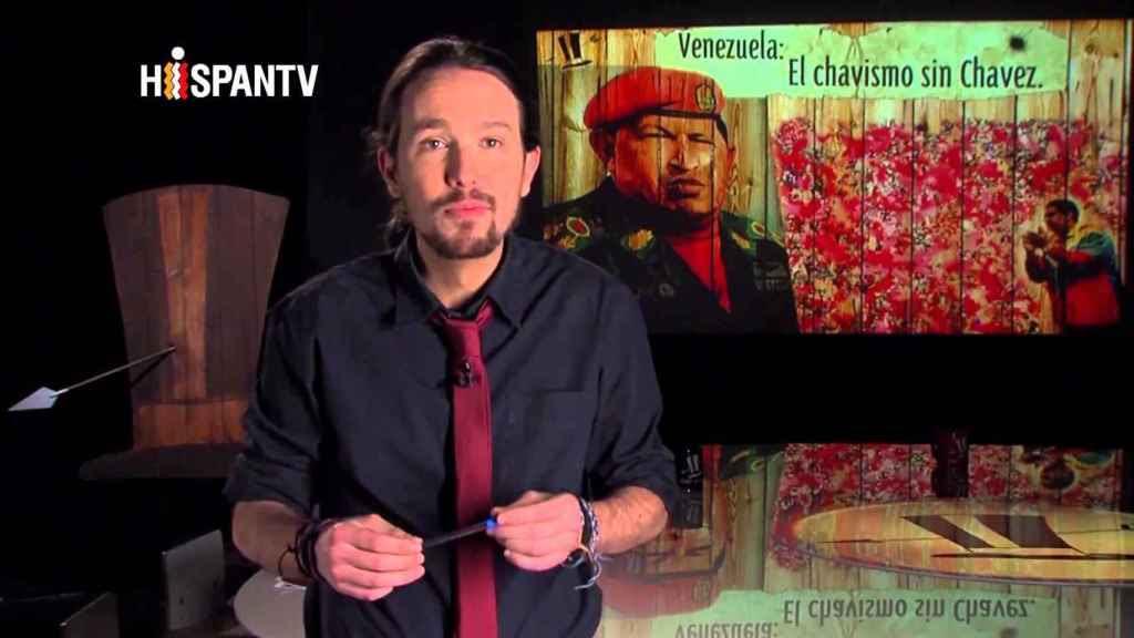 Pablo Iglesias, en un programa televisivo
