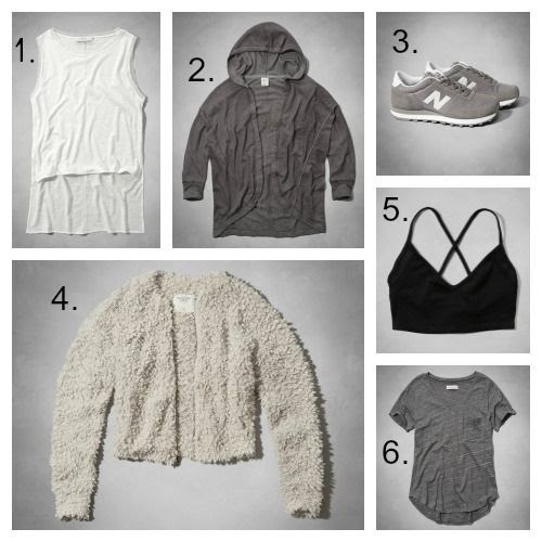 Modern Minimalist Basics from Abercrombie & Fitch